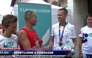 c375cef0c0 13.8.2018 Reportáž  TV SEVERKA Športujeme a pomáhame – Rajecký maratón za  účasti Mateja Tótha