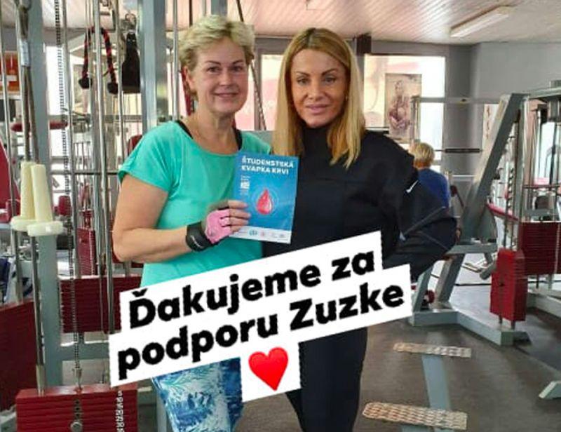 Zuzka Korinkova pomaha nadacii